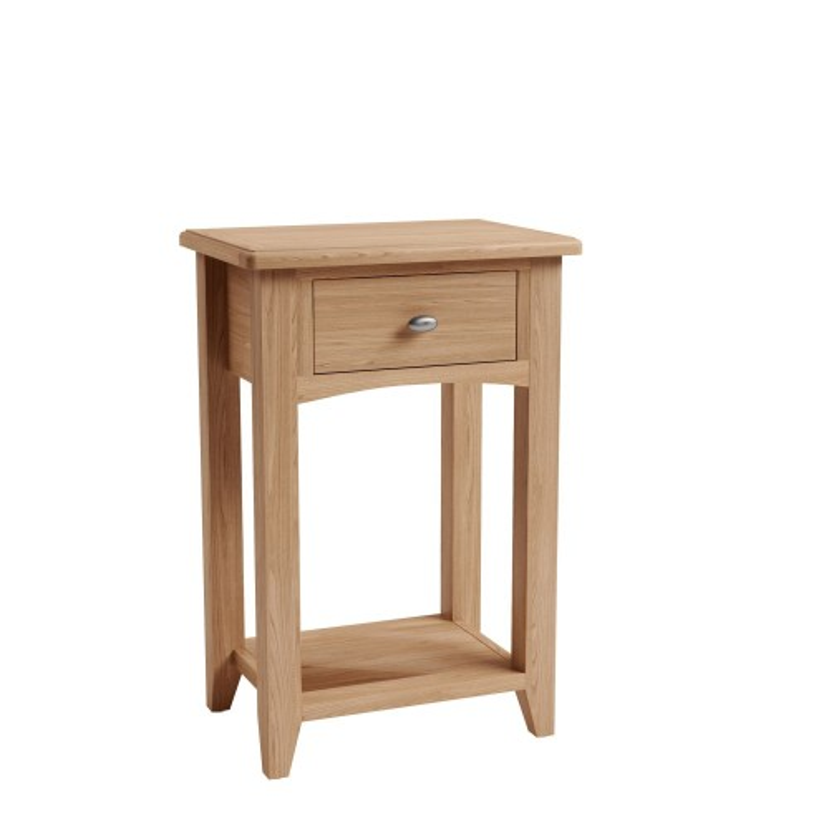 Casa Kington 1 Drawer Lamp Table, Brown