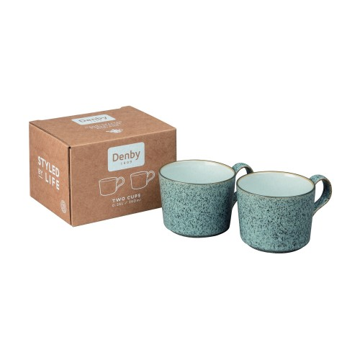 Denby Studio Grey Brew Cup X 2, Grey
