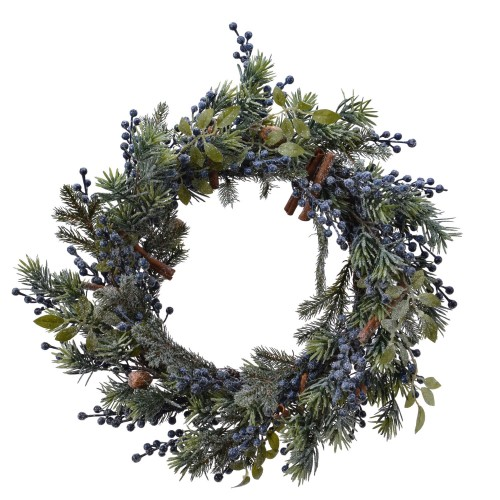 Kaemingk Frosted Deco Wreath In Blue Berry