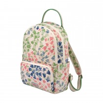 Cath Kidston, Painted Bluebell, Pocket Backpack, Cream