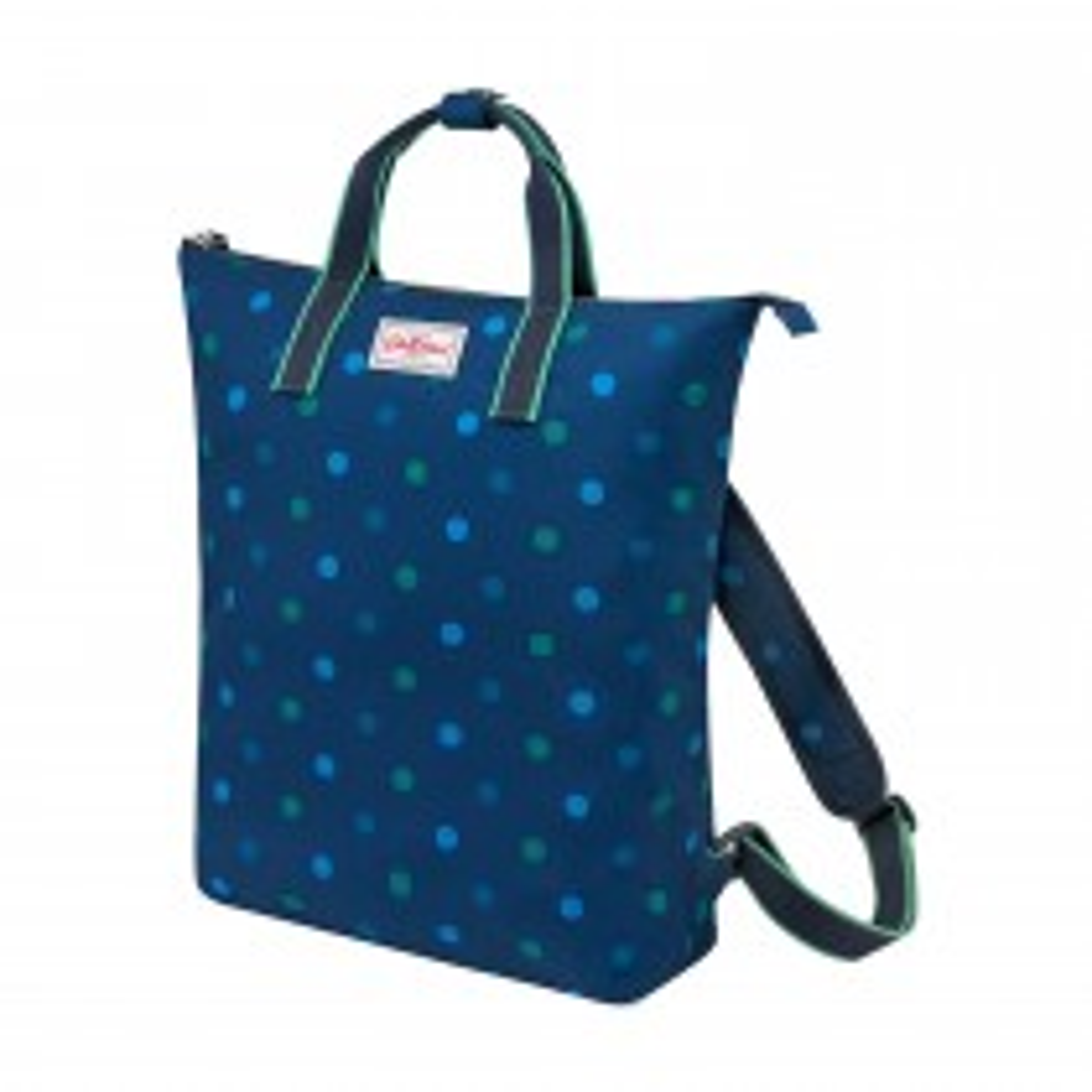Cath Kidston, Power Spot,  Zip-top Backpack, Navy