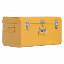 Casa Small Metal Trunk, Mustard