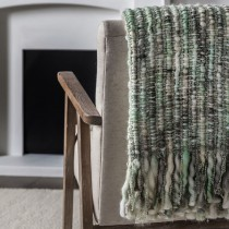 Gallery Noella Space Dyed Throw, Sage Green