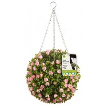 Smart Garden Pink Rose Topiary Ball, 30cm