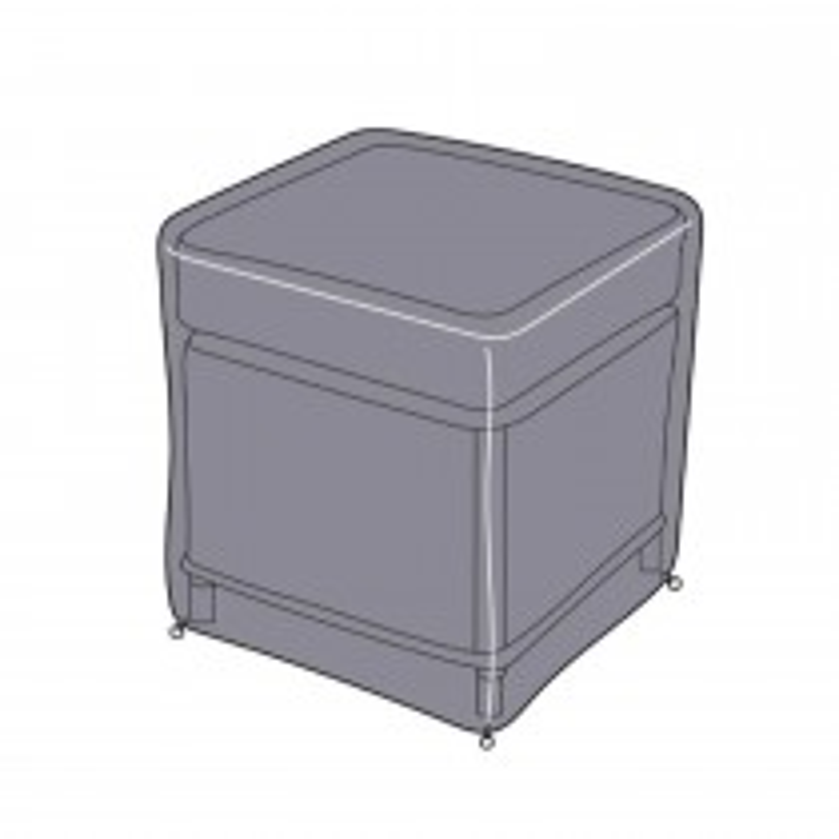 Hartman 85cm Rectangle Table Cover, Grey