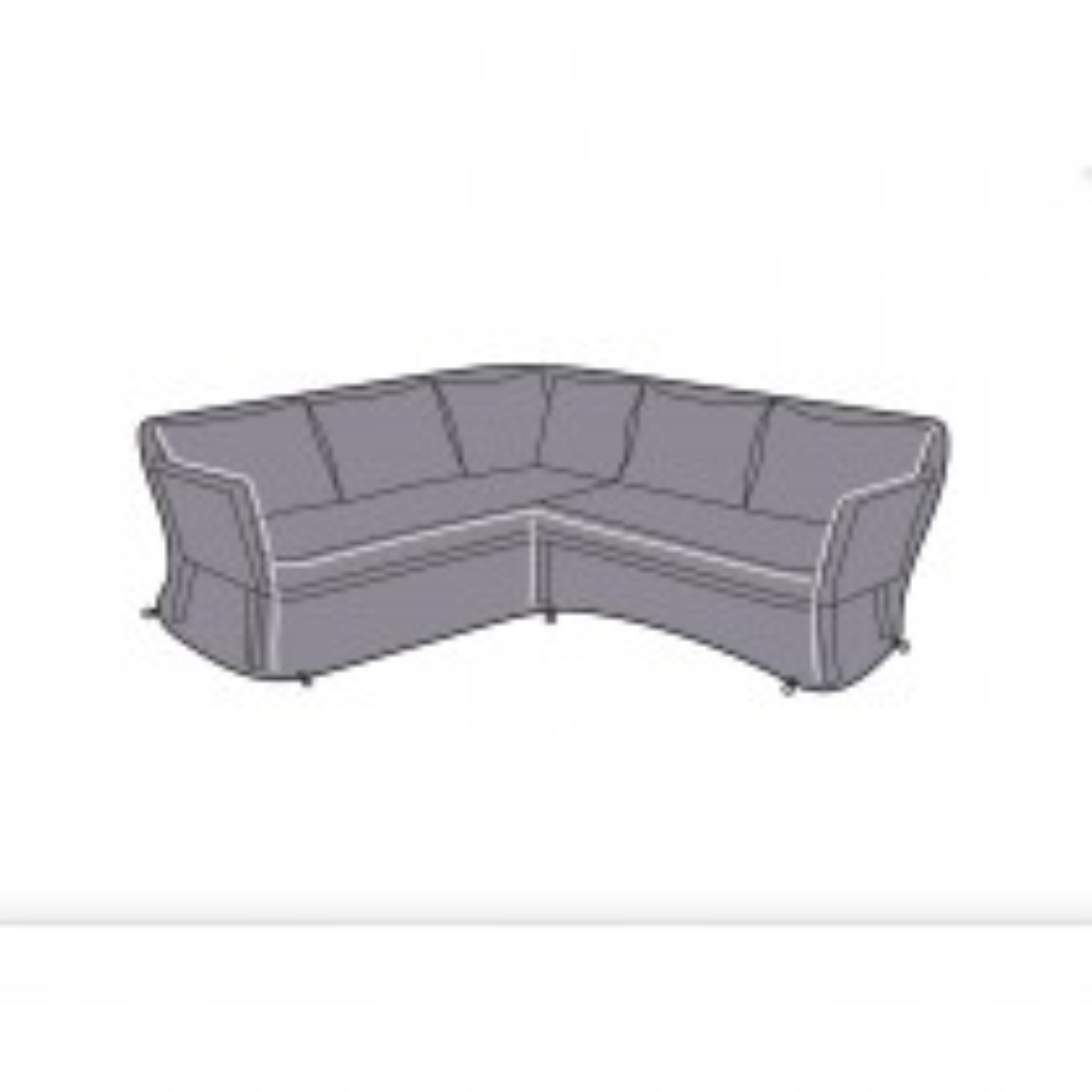 Dubai Square Corner Sofa Cover, Grey