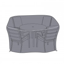 Vienna 6 Seat Set Cover, Grey
