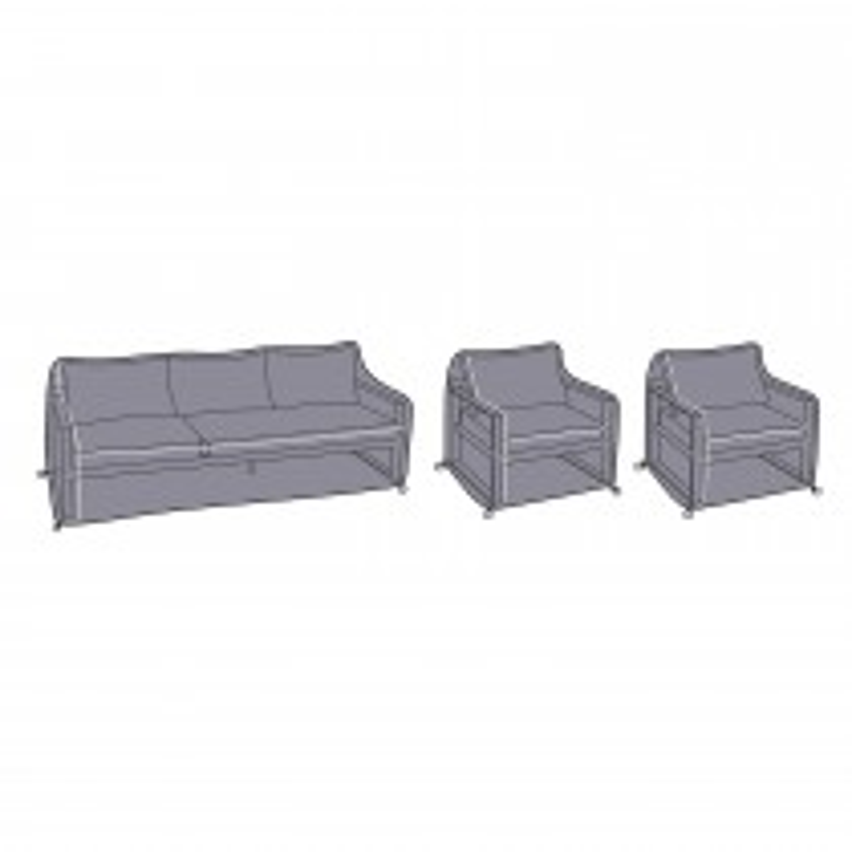 Vienna Sofa & Chair Cover, Grey