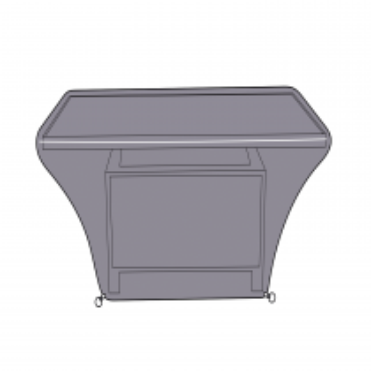 Apollo Coffee Table cover, 105cm,  Grey