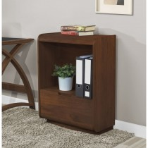 Jual Universal Bookcase With Drawer - Walnut