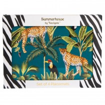 Madagascar Cheetah Placemats, Teal