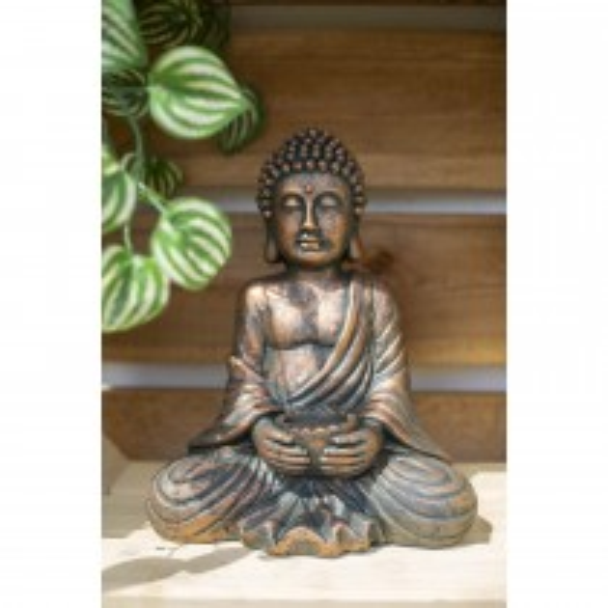 La Hacienda Seated Buddha Medium, Bronze