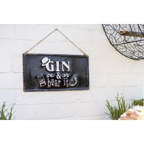 La Hacienda Gin & Bear It Garden Sign
