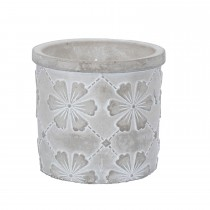 Gisela Graham Floral Citronella Candle Small, Grey