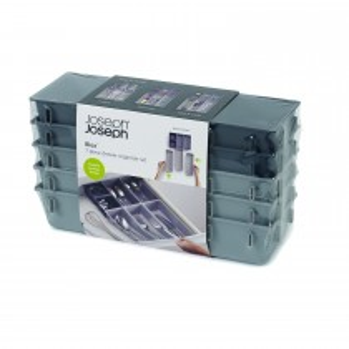 Joseph Joseph, DrawerStore 7-piece Drawer Organiser Set, Grey