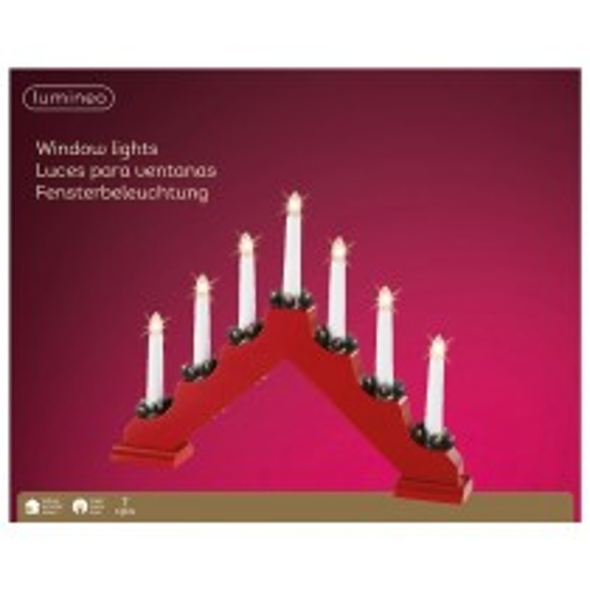 Kaemingk LED Candlebridge, Red