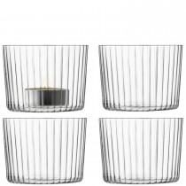 LSA, Gio Line, Tealight Holder, Clear, Set of 4