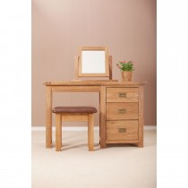 Casa Seville Single 3 Drawer Dressing Table, Oak