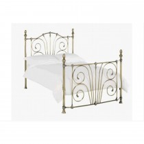 Casa Rebecca Double Bedframe, Antique Brass
