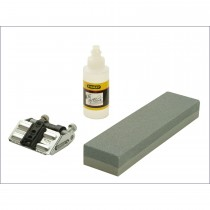 Stanley 200mm Sharpening Stone and Honing Guide