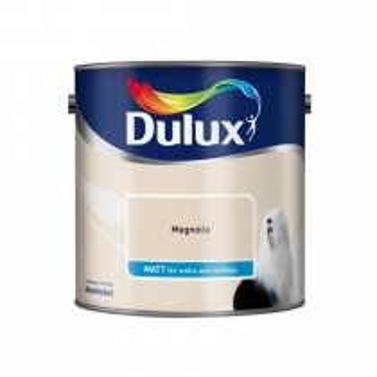 Dulux 2.5l Matt Standard Emulsion Paint, Magnolia
