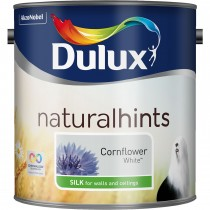 Dulux 2.5l Silk Standard Emulsion Paint, Cornflower white