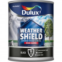 Weathershield 750ml Exterior High Gloss Paint, Black