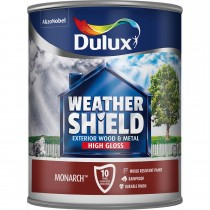 Weathershield 750ml Exterior High Gloss Paint, Monarch