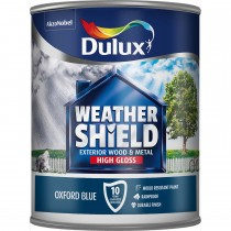 Weathershield 750ml Exterior High Gloss Paint, Oxford Blue