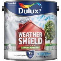 Weathershield 2.5L Smooth Masonry Paint, Pure Brilliant White