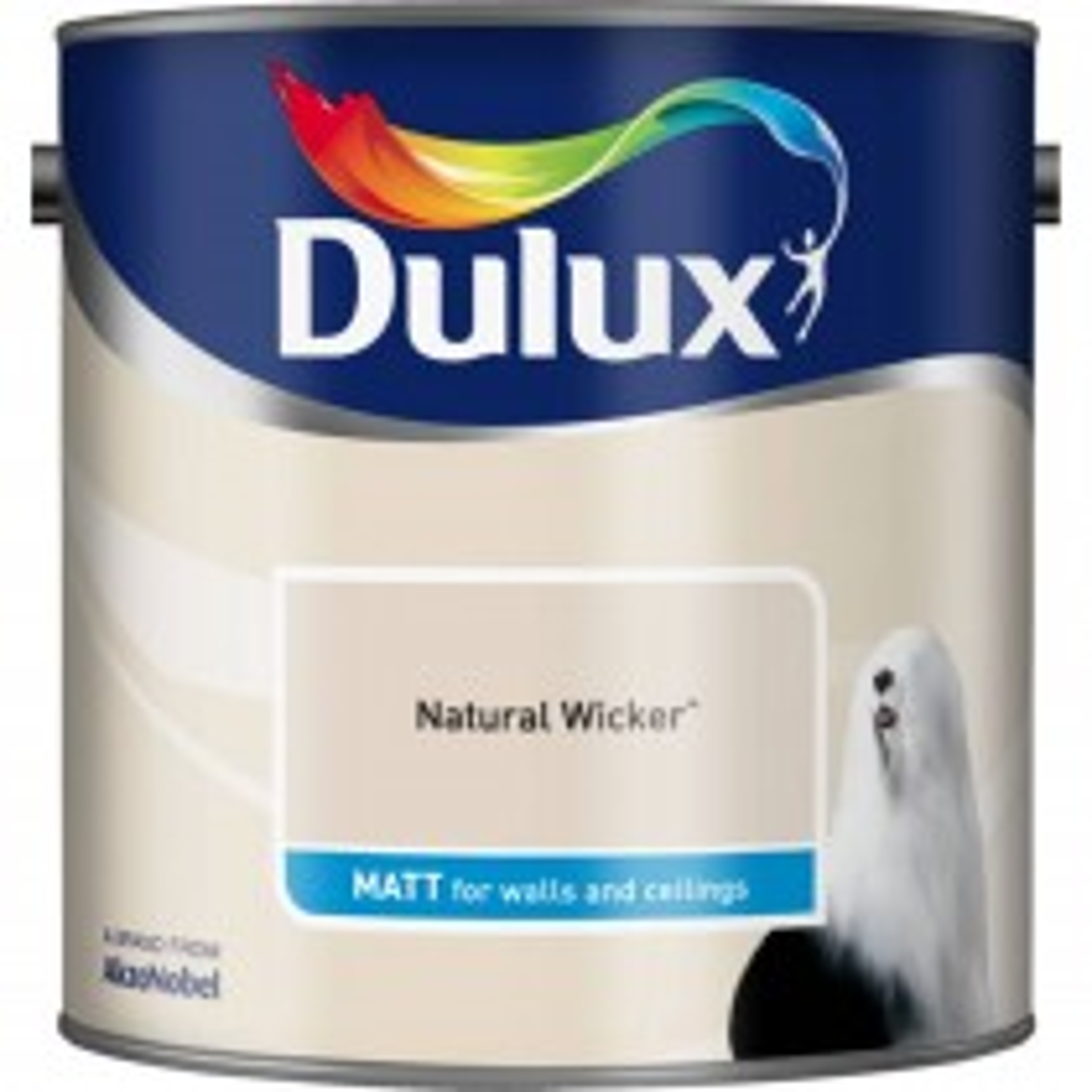 Dulux 2.5l Matt Standard Emulsion Paint, Wicker