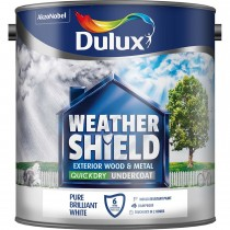 Weathershield 2.5L Quick Dry Undercoat Paint, Pure Brilliant White