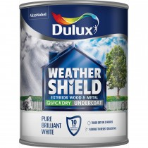 Weathershield 750ml Quick Dry Undercoat Paint, Pure Brilliant White