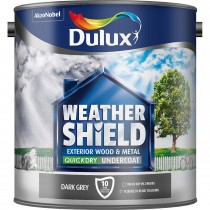 Weathershield 2.5L Quick Dry Undercoat Paint, Dark Grey