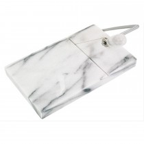 Horwood Polished White Cheese Board & Cutter 12 x 20cm