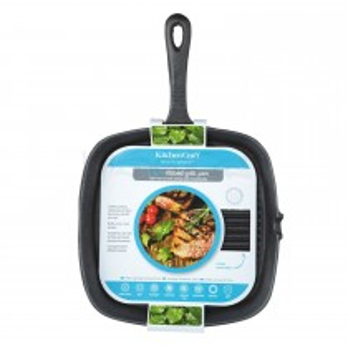Kitchencraft Cast Iron 23cm Grill Pan
