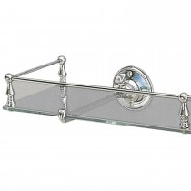 Miller Stockholm Clear Glass Shelf with Guard Rail Chrome Finish, 500mm