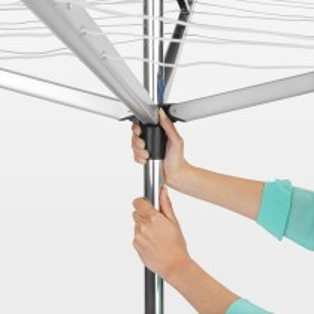 Brabantia 40m 4 Arm Top Spinner Drier, Silver