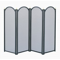 Manor Reproductions Dynasty 4 Fold Screen, Black