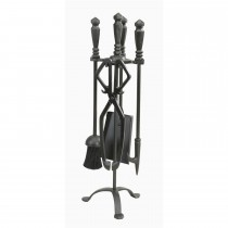Manor Reproductions Temple Companion Set, Black