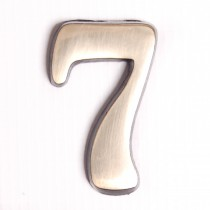 """House Nameplate 2"""" Brass Number 7"""