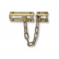 Yale Door Chain, Polished Brass