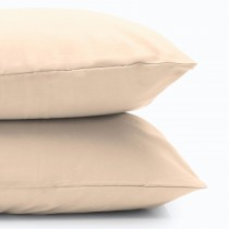 Casa Cream 200 Count Poly Cotton Plain Hem Pillowcase
