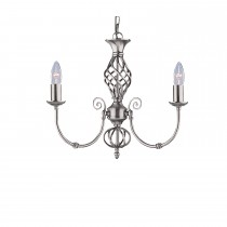 Zanzibar 3-light Pendant, Satin Silver