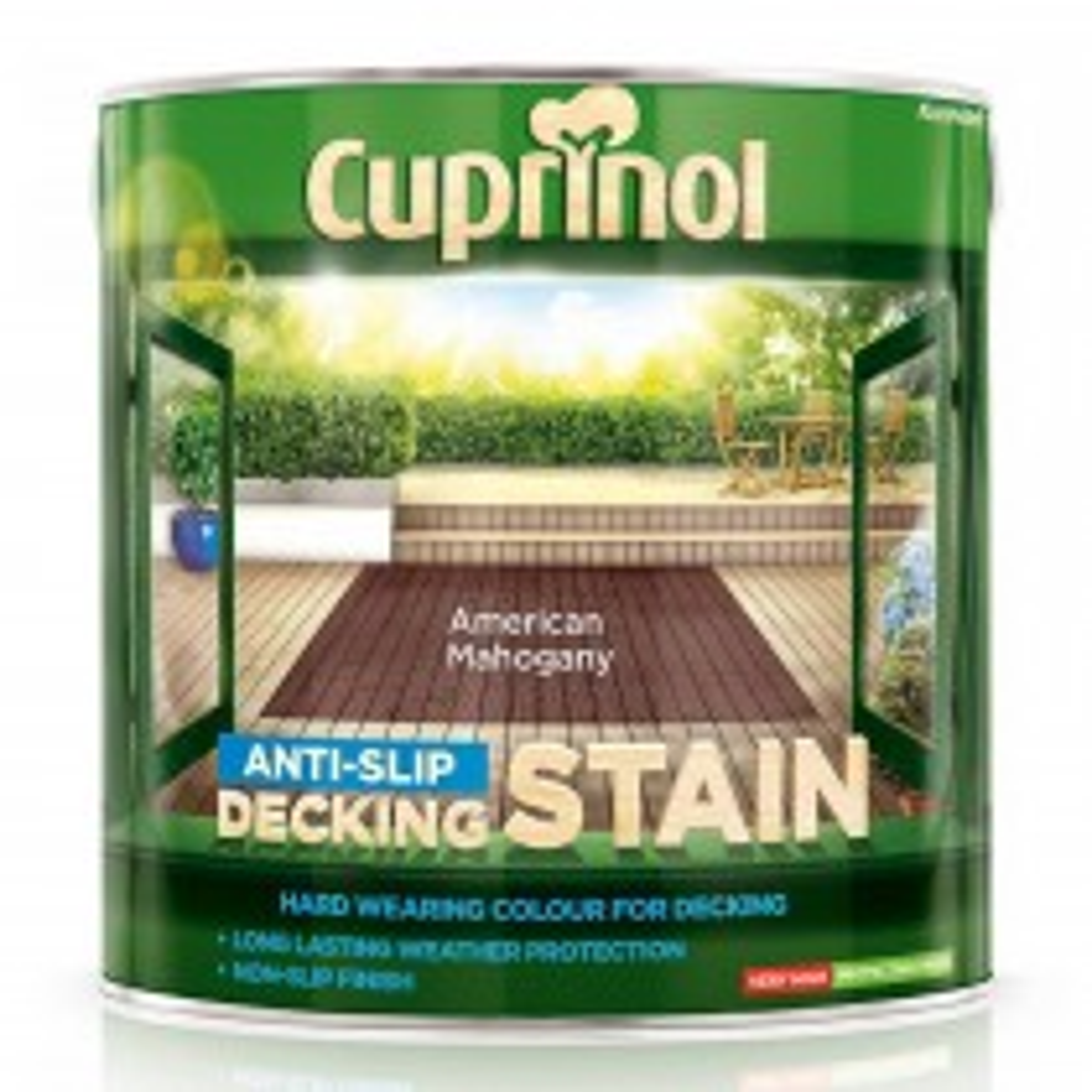 Cuprinol 2.5L Ultra Tough Decking Stain, American Mahogany