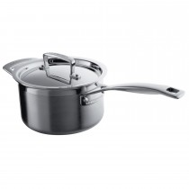 Le Creuset 3-Ply Stainless Steel, 16cm Saucepan And Lid