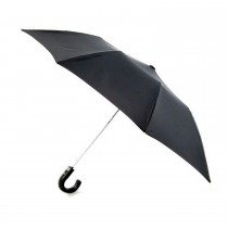Totes Black Automatic Plastic Crook Umbrella