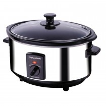 Oval Stainless Steel Slow Cooker