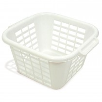 Addis Square Linen Laundry Basket