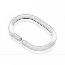 Croydex C Shaped Shower Curtain Ring Clear